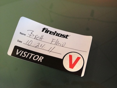 Visitor badge with expiring indication